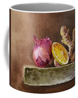 Still Life With Onion Lemon And Ginger Coffee Mug