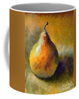 Coffee Mug featuring the painting Still Life With William's Pear by Dragica  Micki Fortuna