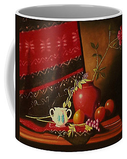 Still Life With Red Vase. Coffee Mug