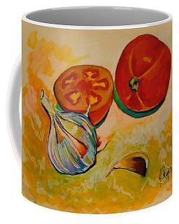 Still Life With Tomatoes And Garlic Coffee Mug