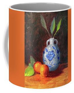 Still Life With Vase And Fruit Coffee Mug