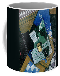 Still Life With Water Bottle, Bottle And Fruit Dish, 1915 Coffee Mug