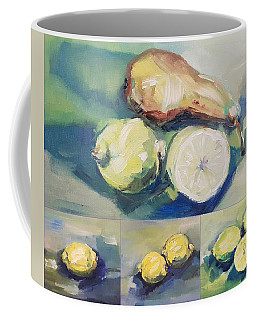 Still With Lemon And Pear Coffee Mug