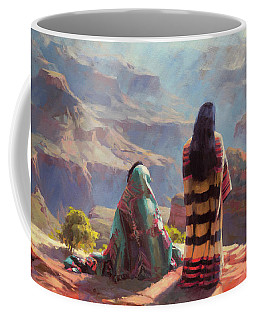 Coffee Mug featuring the painting Stillness by Steve Henderson