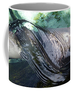 Coffee Mug featuring the photograph Stingray Wave by Francesca Mackenney