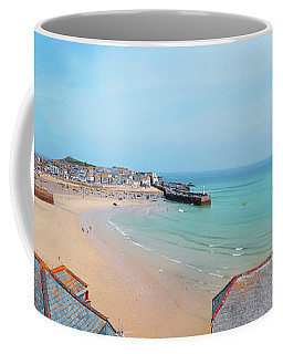 Coffee Mug featuring the photograph St.ives Panorama, Cornwall by Ariadna De Raadt