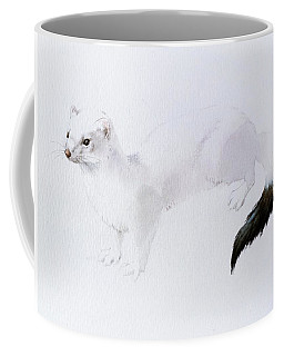 Stoat Watercolor Coffee Mug
