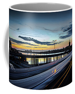 Coffee Mug featuring the photograph Stockholm Night - Slussen by Nicklas Gustafsson