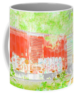 Stockton Train Rail Car Art Coffee Mug