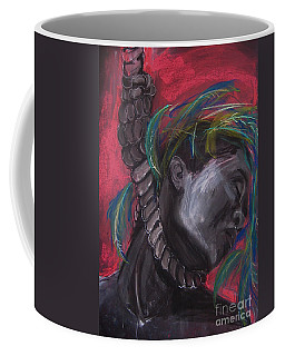 Coffee Mug featuring the drawing Stolen Resource by Gabrielle Wilson-Sealy