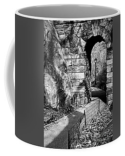 Stone Arch In The Ramble Of Central Park - Bw Coffee Mug