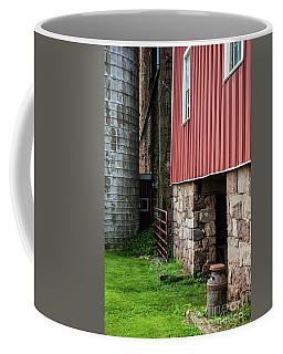Stone Barn With Milk Can Coffee Mug