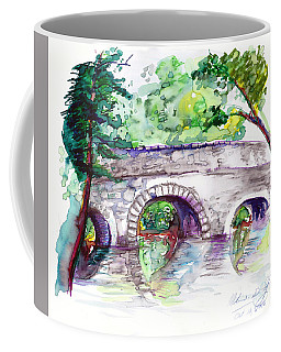 Stone Bridge In Early Autumn Coffee Mug by Melinda Dare Benfield