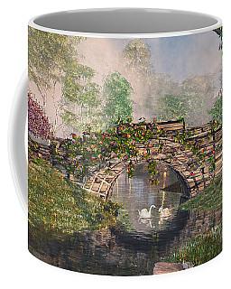 Coffee Mug featuring the digital art Stone Bridge by Mary Almond