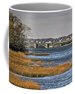 Coffee Mug featuring the photograph Stone Bridge At Mills Gut Colt State Park by Tom Prendergast