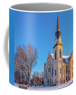 Stone Chapel In Winter Coffee Mug