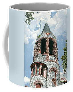 Coffee Mug featuring the painting Stone Church Bell Tower by Dominic White