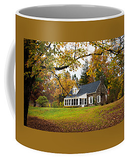 Stone Cottage In The Fall Coffee Mug by Kenneth Cole