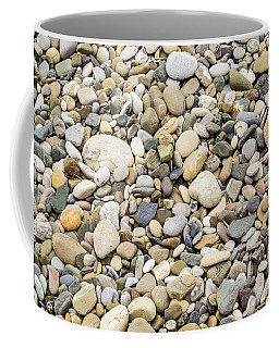 Stone Pebbles Patterns Coffee Mug by John Williams