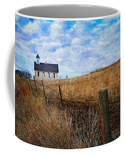 Stone Schoolhouse On The Kansas Prairie Coffee Mug