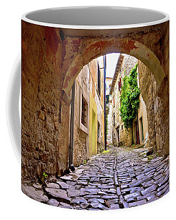 Stone Town Of Groznjan Old Street  Coffee Mug by Brch Photography