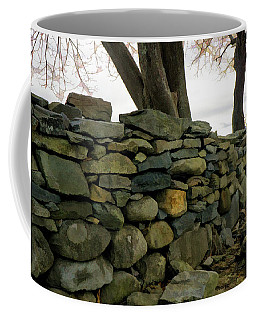 Stone Wall, Colt State Park Coffee Mug by Nancy De Flon