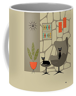 Coffee Mug featuring the digital art Stone Wall by Donna Mibus