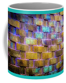 Coffee Mug featuring the photograph Brick Wall In Abstract 499 by D Davila