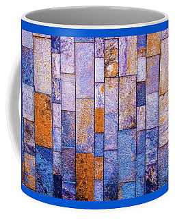 Coffee Mug featuring the photograph Stone Wall In Abstract 543 by D Davila