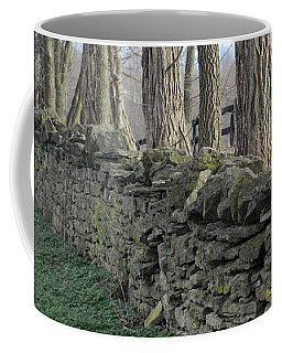 Coffee Mug featuring the photograph Stone Wall by Linda Mesibov