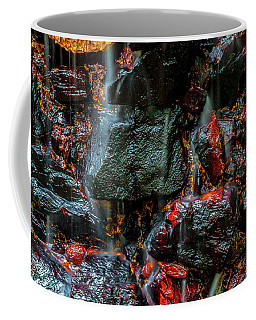 Stone, Water And Color Coffee Mug by Ken Frischkorn