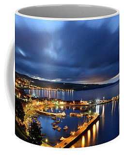 Stonehaven Harbour At Night Coffee Mug