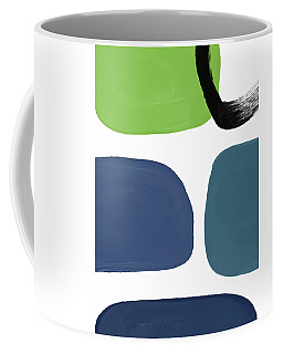 Coffee Mug featuring the mixed media Stones 7- Modern Art By Linda Woods by Linda Woods