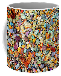 Stones And Barks On Beach Coffee Mug