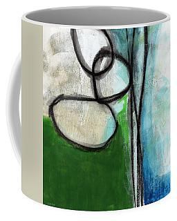 Stones- Green And Blue Abstract Coffee Mug