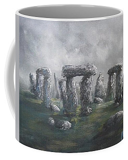 Coffee Mug featuring the painting Stones Of Time  by Megan Walsh