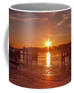 Stonington Harbor Sunset On Ice Coffee Mug