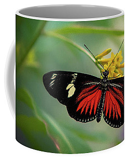 Butterfly, Stop And Smell The Flowers Coffee Mug
