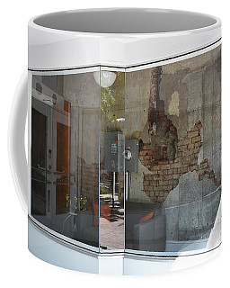 Coffee Mug featuring the photograph Store Front To Let by Skip Willits