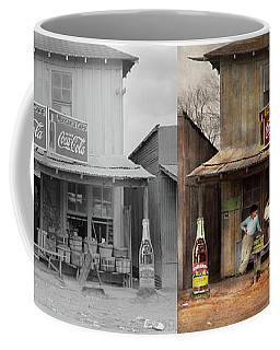 Store - Grocery - Mexicanita Cafe 1939 - Side By Side Coffee Mug by Mike Savad