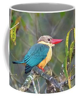 Stork-billed Kingfisher Coffee Mug by Pravine Chester
