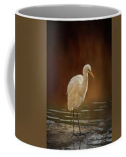 Stork On A Rock Coffee Mug