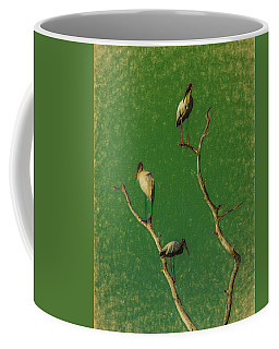 Storks On Dead Tree Coffee Mug
