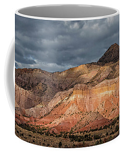 Storm Above Ghost Ranch Mountains Coffee Mug