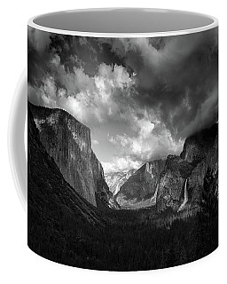 Storm Arrives In The Yosemite Valley Coffee Mug