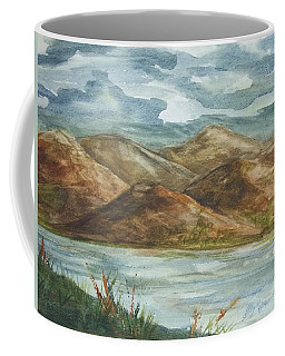 Coffee Mug featuring the painting Storm Clouds by Ellen Levinson