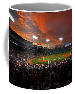 Storm Clouds Over Fenway Park Coffee Mug