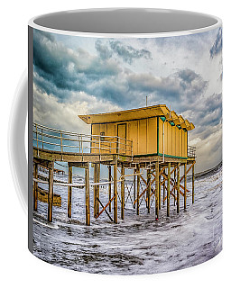 Coffee Mug featuring the photograph Storm Clouds Over The Ocean by Nick Zelinsky