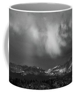 Coffee Mug featuring the photograph Storm Clouds Over Yosemite by Sharon Seaward