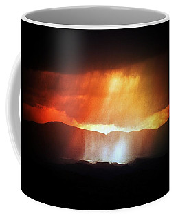 Storm Glow Night Over Santa Fe Mountains Coffee Mug